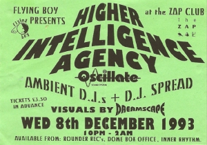 Higher Intelligence Agency flyer 1993