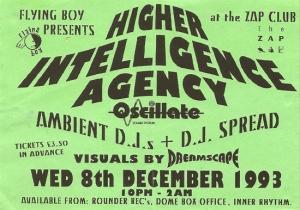 Higher Intelligence Agency flyer 1993