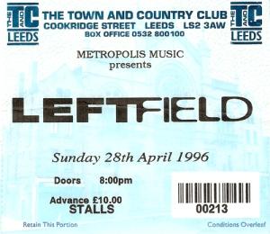 Leftfield, Leeds 28/04/96