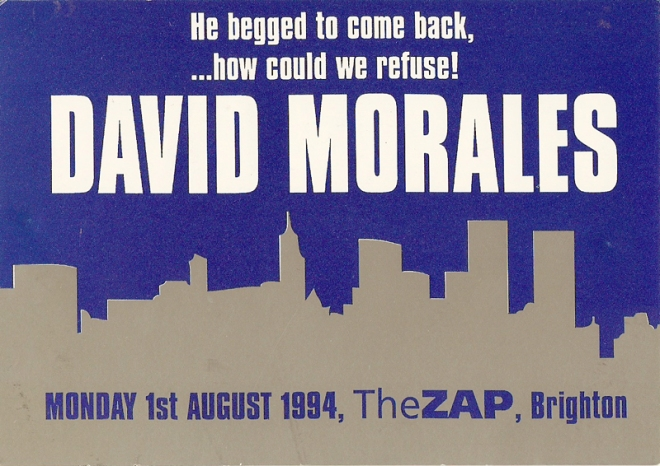 David Morales @ The Zap, Brighton 1994