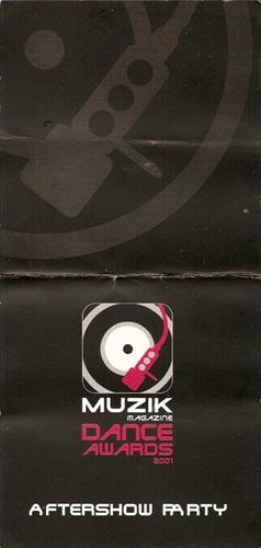 Muzik magazine awards 2001