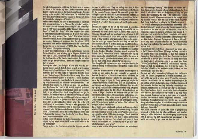 DJ Vadim interview 1999