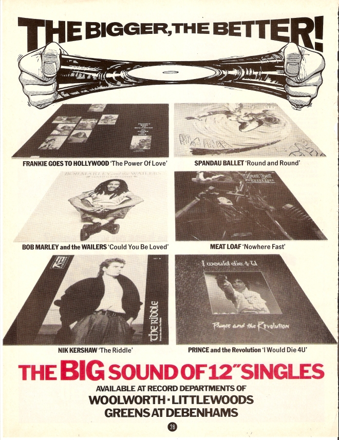 Smash Hits advert circa December 1984