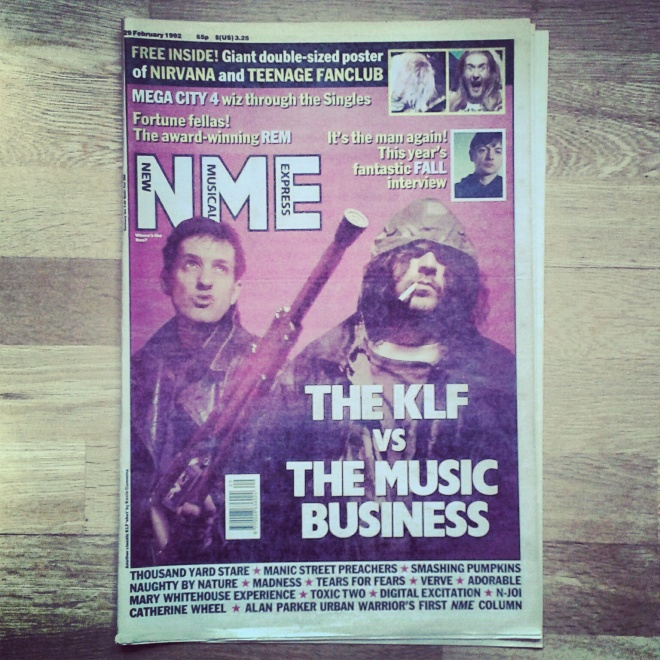 The KLF NME cover w/e 29/02/92
