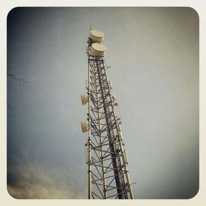 Texel. Phone mast.