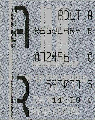 World Trade Center ticket stub