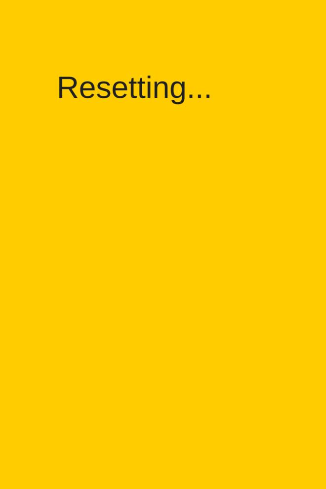 Reset in progress